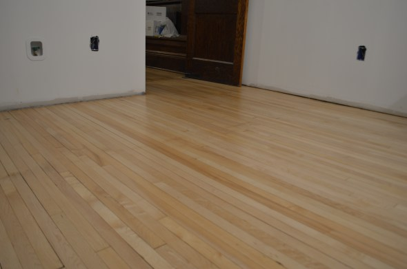refinishing old maple flooring
