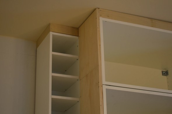 built in fridge cabinets installation