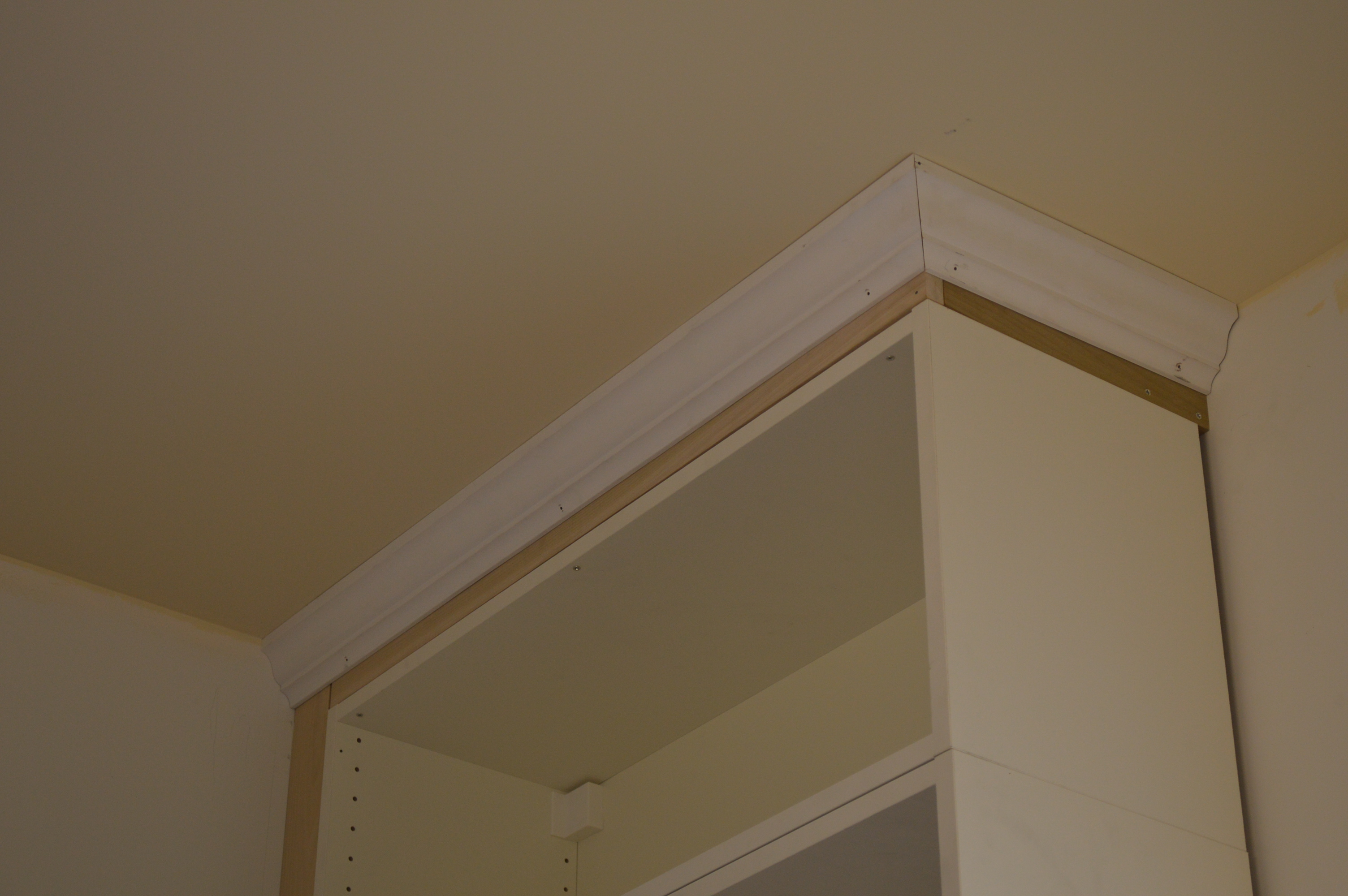 kitchen cabinet trim installation cherry wood table cabinets got crowned st paul haus