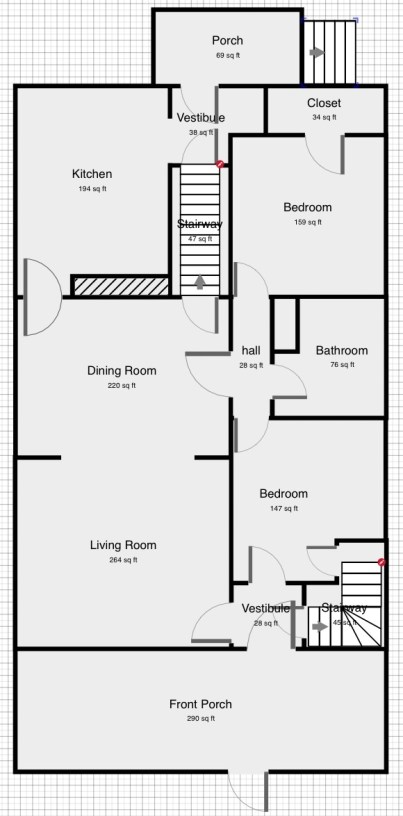 Craftsman house layout