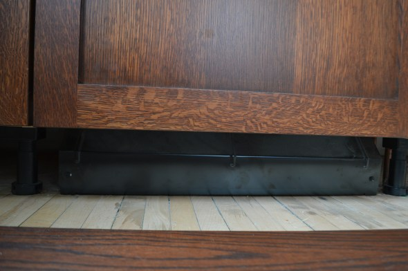 baseboard under dishwasher