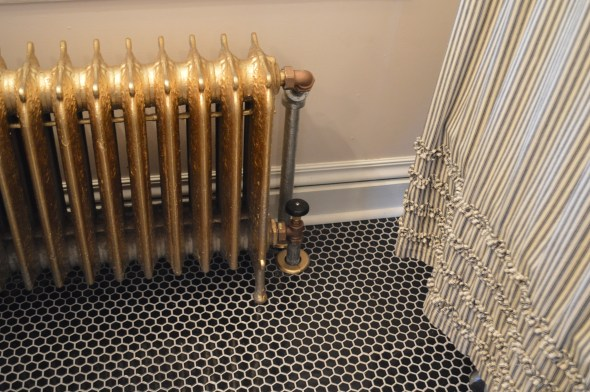 gold painted radiator