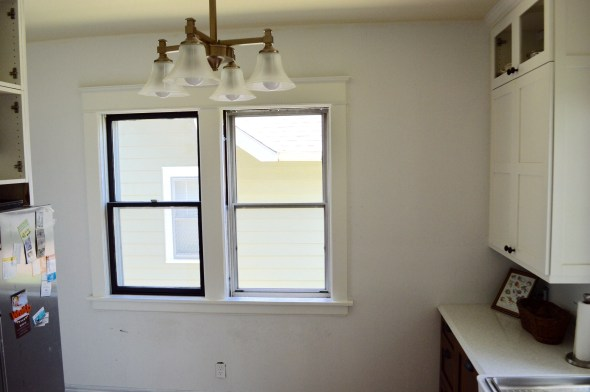 Craftsman window trim painted