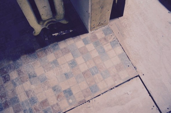 old linoleum flooring