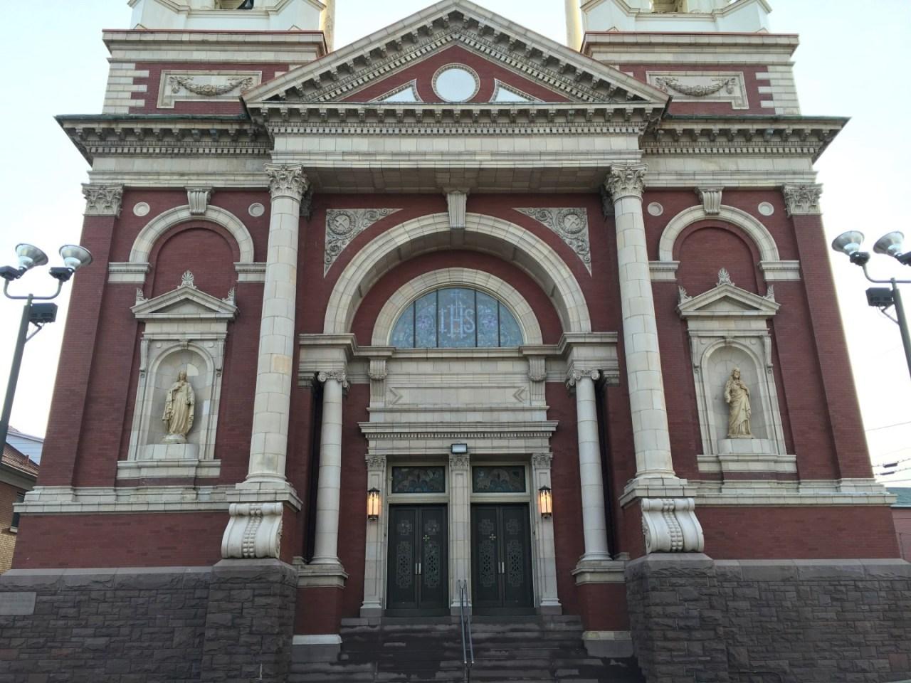 Outside St. Paul of the Cross Parish