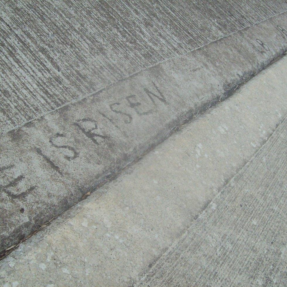 He Is Risen in Concrete