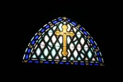 The awesome stainglass window...