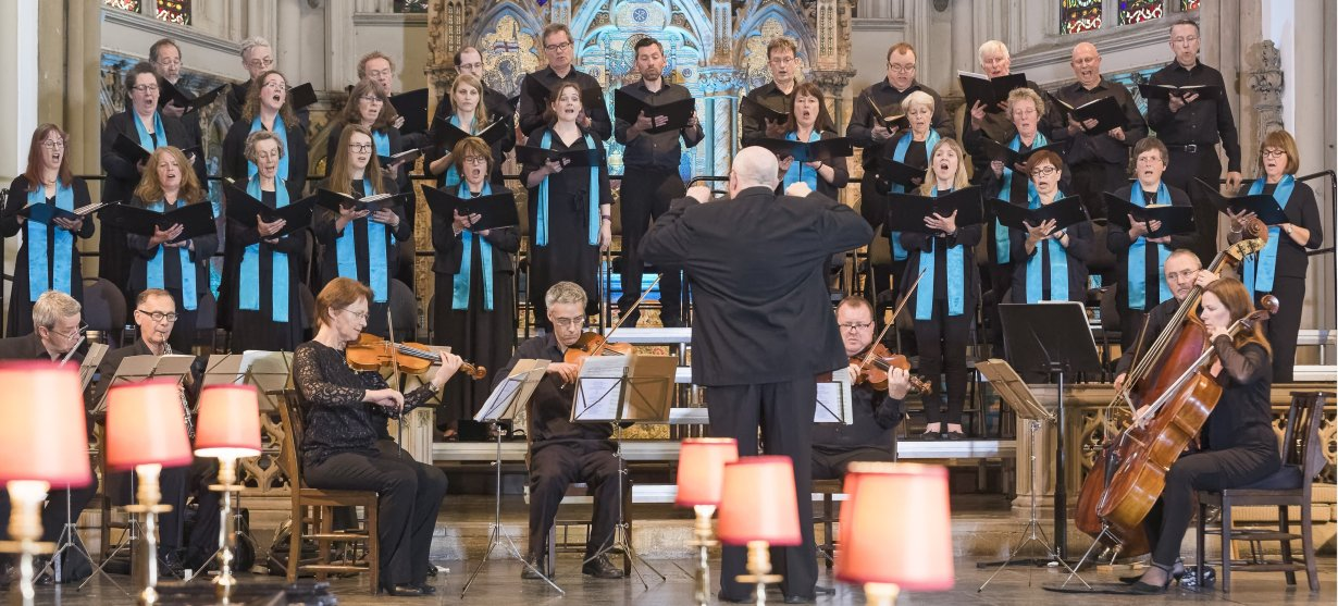St Peter's Singers of Leeds in the choir's 40th Anniversary concert at Leeds Minster