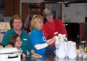 Kitchen ladies at the craft fair