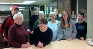 Members of St. Peter helped with Emmaus meals