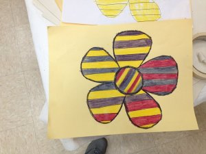 Sarah's flower for the Lutheran World Relief quilts