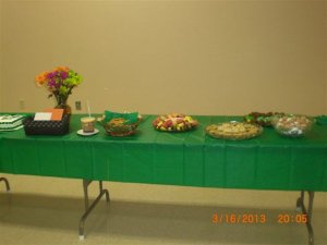 Food at Kurt's reception
