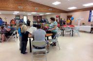 Kids making cards at Job Fair