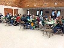 Enjoying food and fellowship