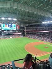 Taking in a baseball game