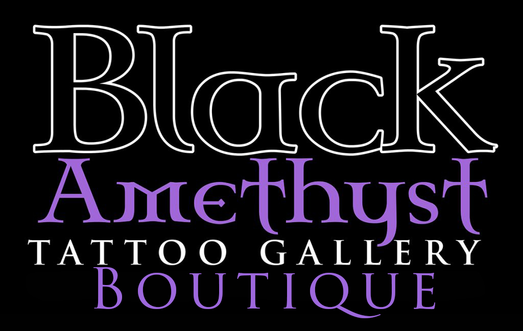 St Pete Tattoo Black Amethyst Tattoo Gallery Boutique Logo