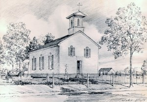 St. Philip's  first building was built in 1845. It was razed in 1914, to make way for the current building.