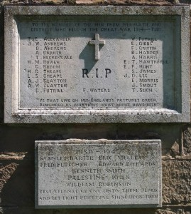 War memorial at St Philip's