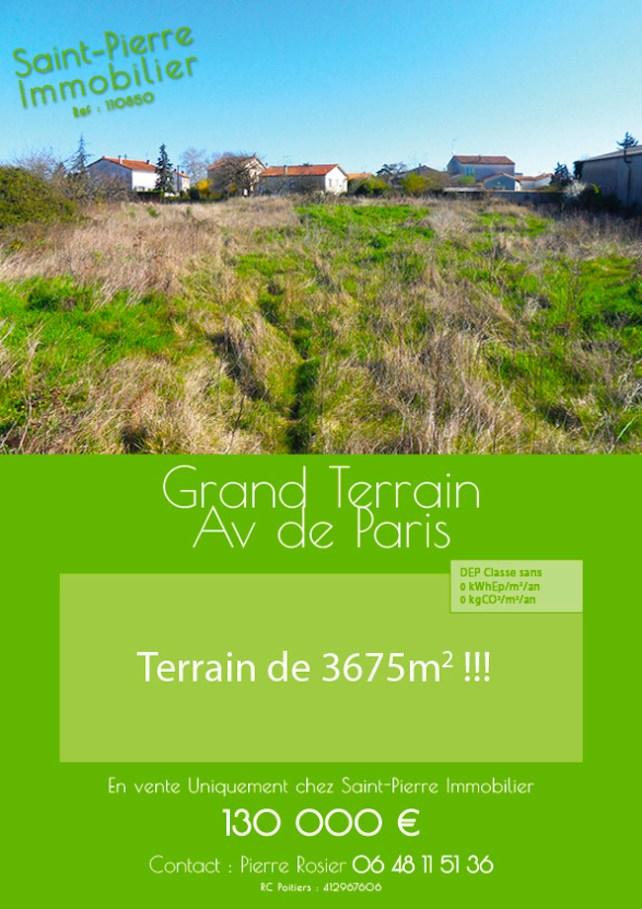 vente terrain avenue de paris niort