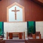 Photo of sanctuary at St. Pius Brantford