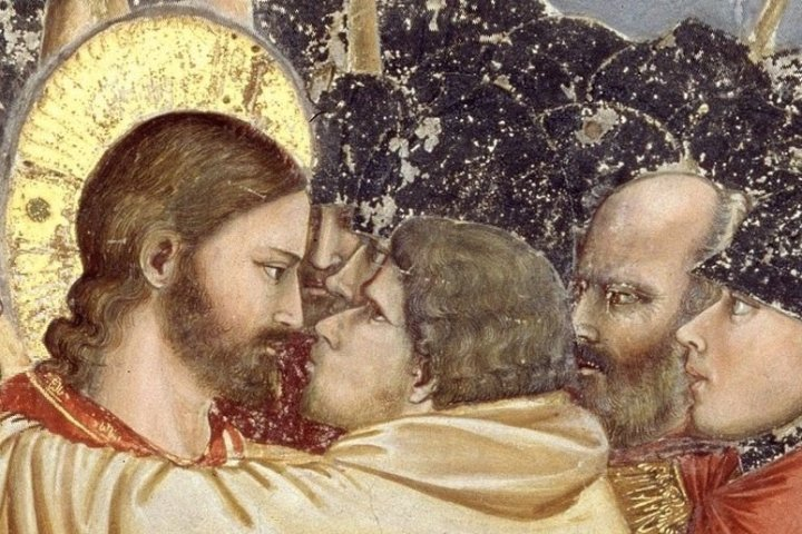 Detail from painting of the kiss of Judas