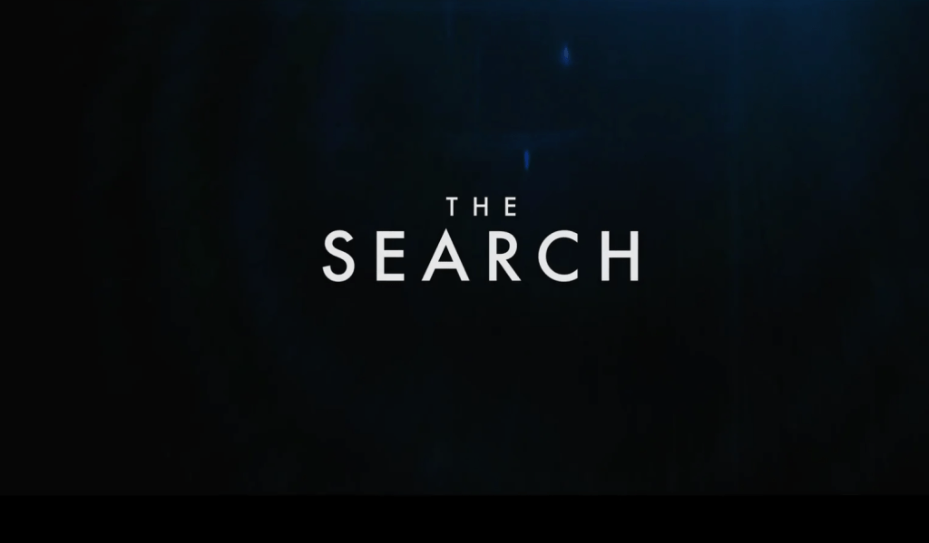 The Search title card