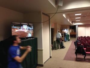 Monitors in the Parish Center