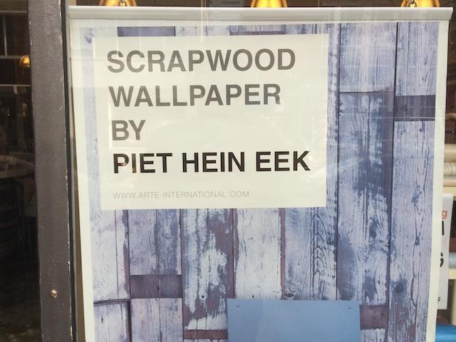 Sloophout-behang