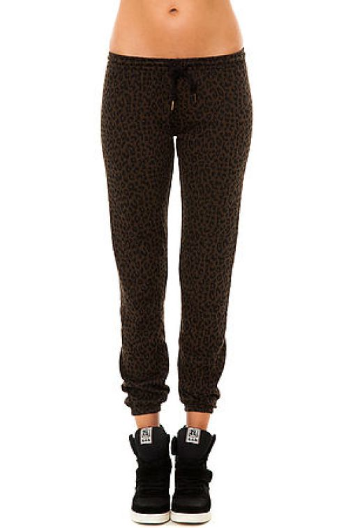 Obey - The Lola Sweatpant in Olive Brown Leopard (US$59)