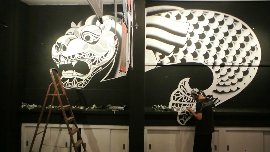 BAKIBAKI's take on the Merlion, at Kult Gallery