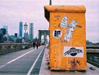 Making our mark at New York's Brooklyn Bridge