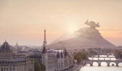 Fallen Star Wars Battleships in Major Cities by Nicolas Amiard