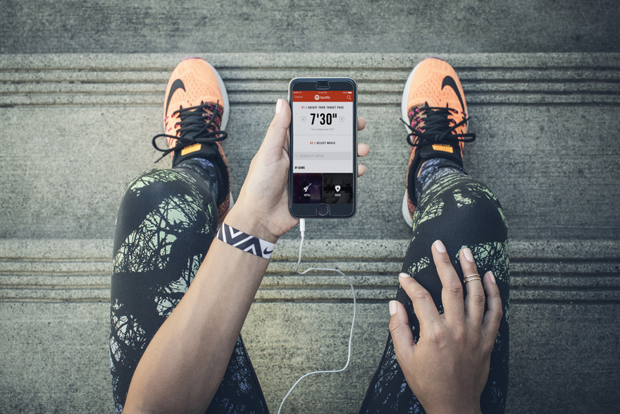 Nike+ Running App Introduces Song Playlist Feature in Partnership with Spotify