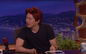 Steven Yuen tells Conan he has a new job