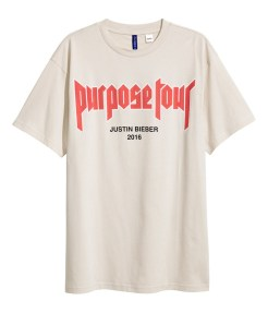 "Justin Bieber's ""Purpose"" Tour Merch Hits H&M"