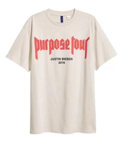 "Justin Bieber's ""Purpose"" Tour Merch Hits H&M"