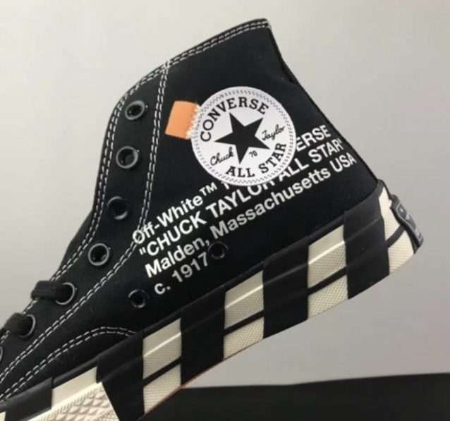 Orange tab and Off-White detailing on the inner side of the shoe