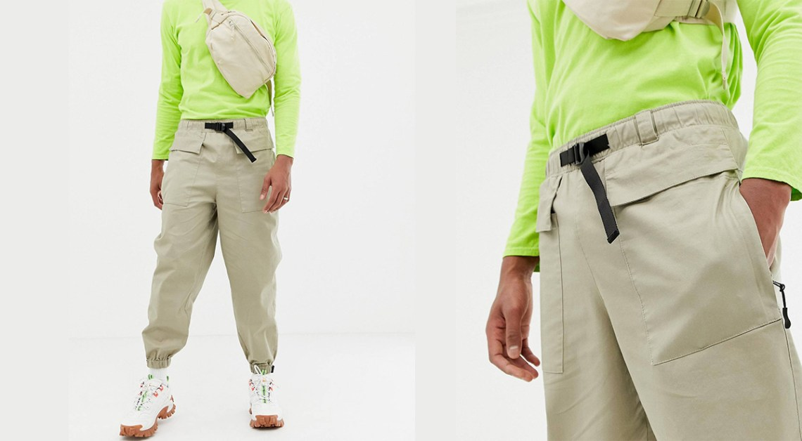 ASOS Labor Day offer tapered utility trousers