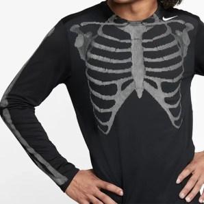 Nike Skeleton Airforce 1 men black top