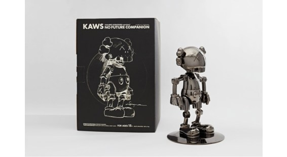 tongue + Chic Kaws X Hajime Sorayama, NO FUTURE COMPANION (Black Chrome)