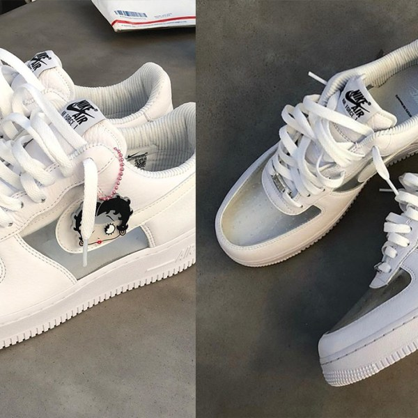 On-feet look: Olivia Kim's F&F Air Force 1 features see-through toe box and panels