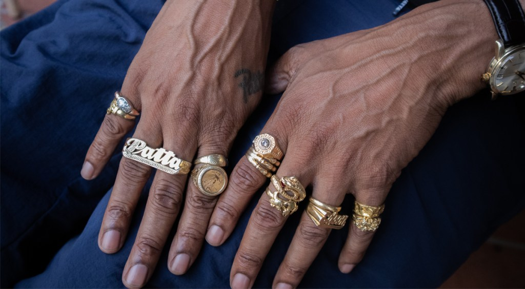 Patta Co-founder Edson Sabajo Rings