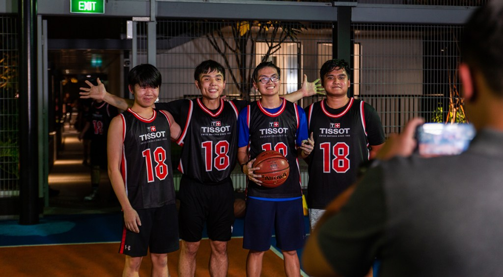 tissot basketball clinic professional training program scholar basketball academy singapore national basketball player wong wei long