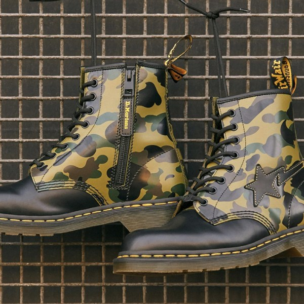 Footwear drops: Dr Martens remasters its iconic 1460 boot with Bape's signature camo