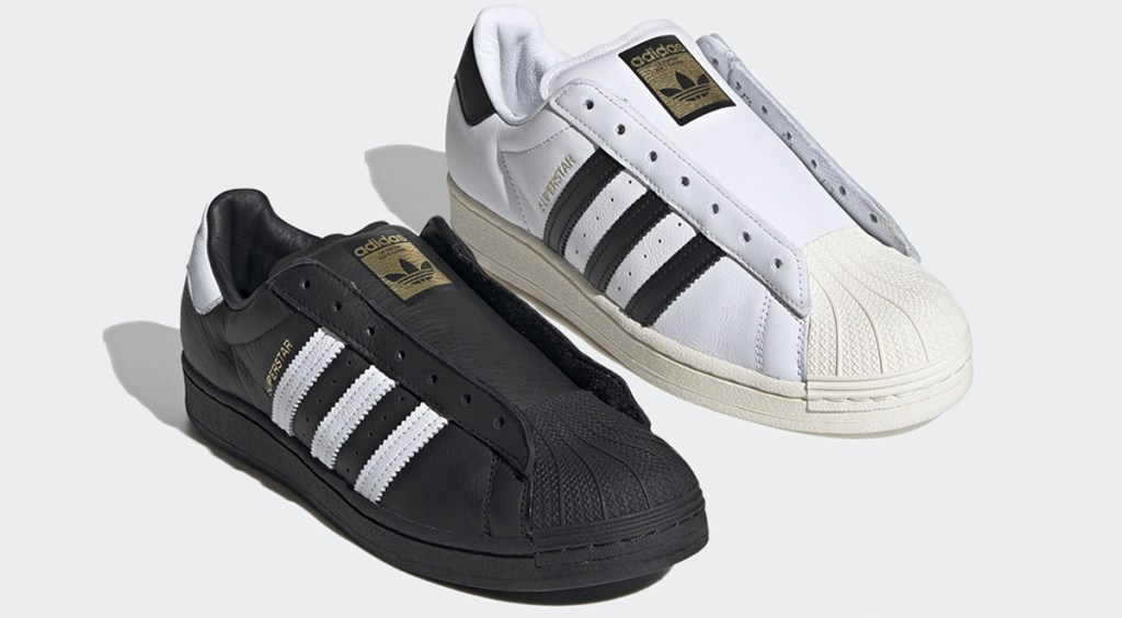 laceless Adidas Superstar side view