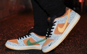 "Nike SB Dunk Low ""Safari"" on feet"