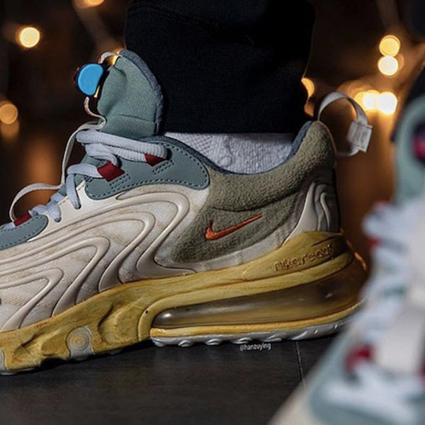 Travis Scott's pre-aged Nike Air Max 270 React will drop in April!
