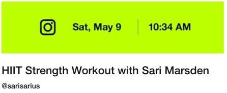 Nike Community Workout May 9