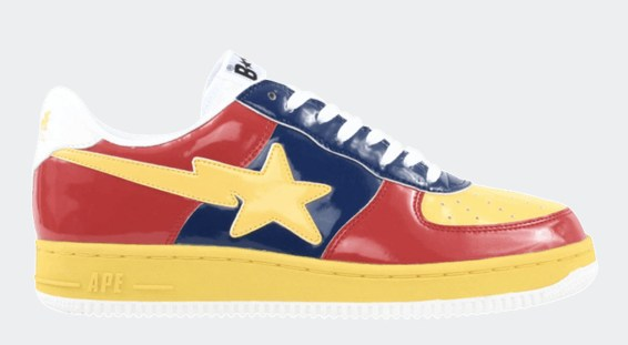 Human Made x Adidas Rivalry Low red yellow blue Bapesta