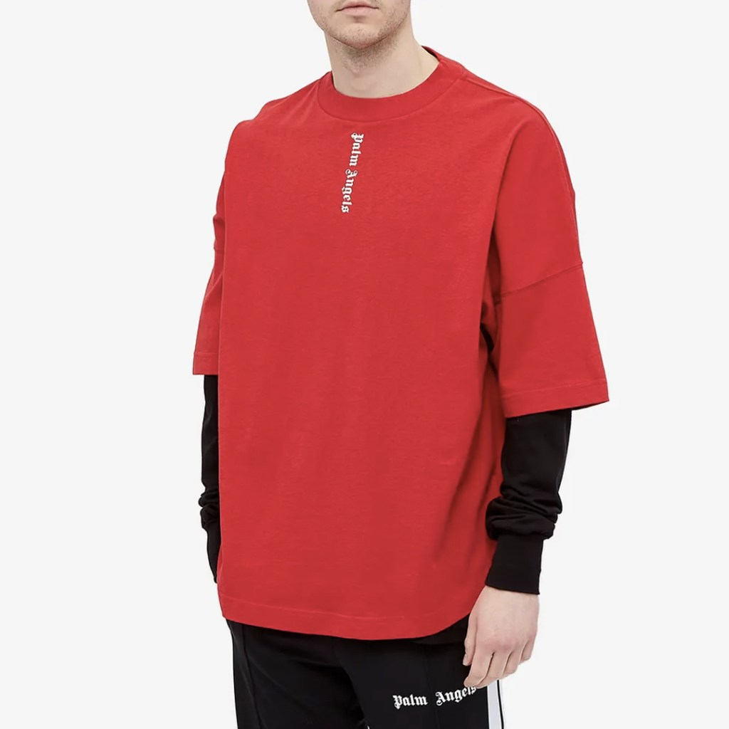 Palm Angels Vertical Logo Oversized Tee